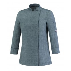 Chaqueta de cocinera EGOCHEF 104062 GREY MIX GIRL