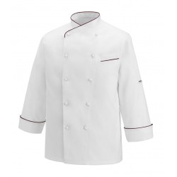Chaqueta cocina EGOCHEF 100009 GERARD BORDEAUX PIPING
