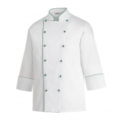 Chaqueta de cocina EGOCHEF 102011 GREEN PIPING