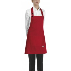 Delantal con peto unisex EGOCHEF 702007 RED (Pack 2 us)