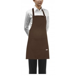 Delantal con peto unisex EGOCHEF 702009 BROWN (Pack 2 us)