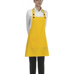 Delantal con peto unisex EGOCHEF 702012 YELLOW (Pack 2 us)