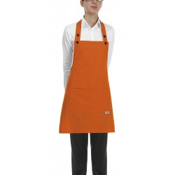 Delantal con peto unisex EGOCHEF 702013 ORANGE (Pack 2 us)