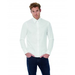 Camisa London Stretch shirt LS B&C SM580