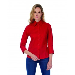 Camisa Milano/Women Popelin shirt 3/4 Sleeves B&C SW520